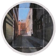 Alley Front Street Layered Round Beach Towel