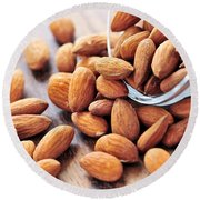 Almonds Round Beach Towel