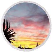 Aloe Ferox  South Africa Round Beach Towel