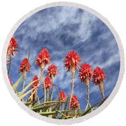 Aloes South Africa Round Beach Towel