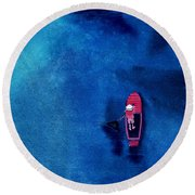 Alone 1 Round Beach Towel