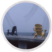 Alone At Last Round Beach Towel
