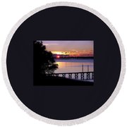Alone With God Round Beach Towel by Karen Wiles