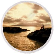 Alone With Your Thoughts Round Beach Towel