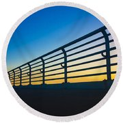 Along The Bridge Round Beach Towel