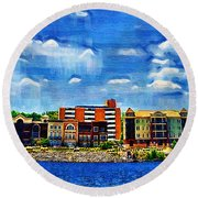 Along The Tennessee River In Decatur Alabama Round Beach Towel