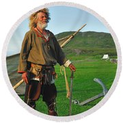 Along The Viking Trail Round Beach Towel