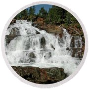 Alpine Falls Glen Alpine Falls Lake Tahoe Round Beach Towel