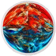 Alternate Realities 2 Round Beach Towel