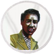 Althea Gibson Round Beach Towel