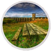Alwen Reservoir Round Beach Towel