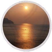 Amalfi Sunset Round Beach Towel