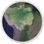 Amazon River Sources Round Beach Towel