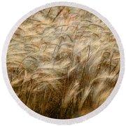 Amber Waves Of Grain Round Beach Towel