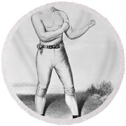 American Boxer, 1860 Round Beach Towel