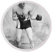 American Boxer, C1912 Round Beach Towel