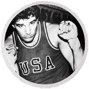 American Boxer, C1982 Round Beach Towel