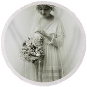 American Bride, C1925 Round Beach Towel