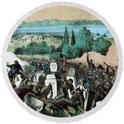 American Civil War, Battle Of Baton Round Beach Towel