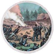 American Civil War, Battle Of Cold Round Beach Towel
