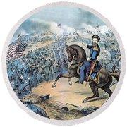 American Civil War, Storming Of Fort Round Beach Towel