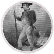 American Continental Soldier Round Beach Towel
