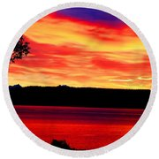 American Glory Round Beach Towel
