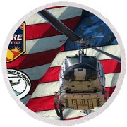 American Hero 1 Round Beach Towel