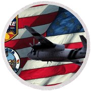 American Hero 2 Round Beach Towel