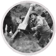 American Howitzers Shell German Forces Round Beach Towel
