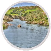American River II Round Beach Towel