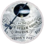 American Steam Gauge Round Beach Towel
