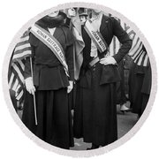 American Suffragists Round Beach Towel