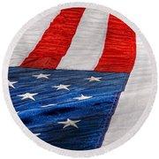 Americana - Flag - Stars And Stripes  Round Beach Towel