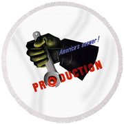 America's Answer -- Production  Round Beach Towel