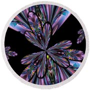 Amethyst Affair Round Beach Towel