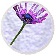 Amethyst Sapphire And Gold Round Beach Towel