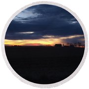 Amish Sunrise Round Beach Towel