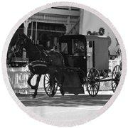 Amish Transportation Round Beach Towel