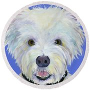 Amos Round Beach Towel