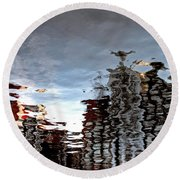 Amsterdam Reflections Round Beach Towel