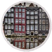 Amsterdam Reflections Hdr Round Beach Towel