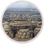 An Aerial View Of Saddam Hussiens Great Round Beach Towel by Terry Moore