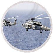 An Airborne Change Of Command Round Beach Towel