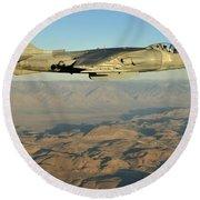 An Av-8b Harrier Conducts A Test Flight Round Beach Towel