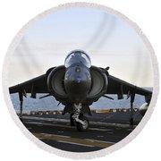 An Av-8b Harrier Maneuvers Round Beach Towel