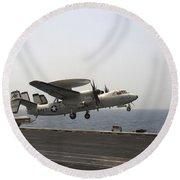An E-2c Hawkeye Takes Round Beach Towel