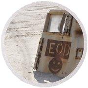 An Explosive Ordnance Disposal Logo Round Beach Towel