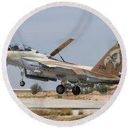 An F-15i Raam Taking Off From Hatzerim Round Beach Towel