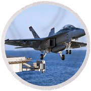An Fa-18f Super Hornet Takes Round Beach Towel